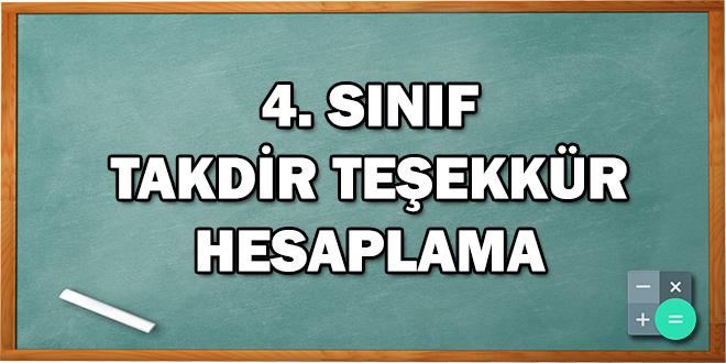 4. Sınıf Takdir Teşekkür Hesaplama