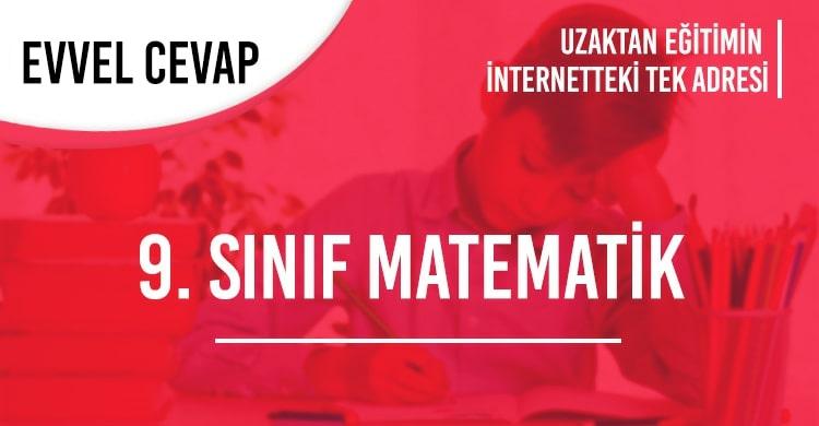 9. Sınıf Matematik Test Çöz